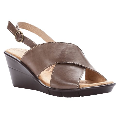 Propet Luna - Women's Comfort Wedge Backstrap Sandals
