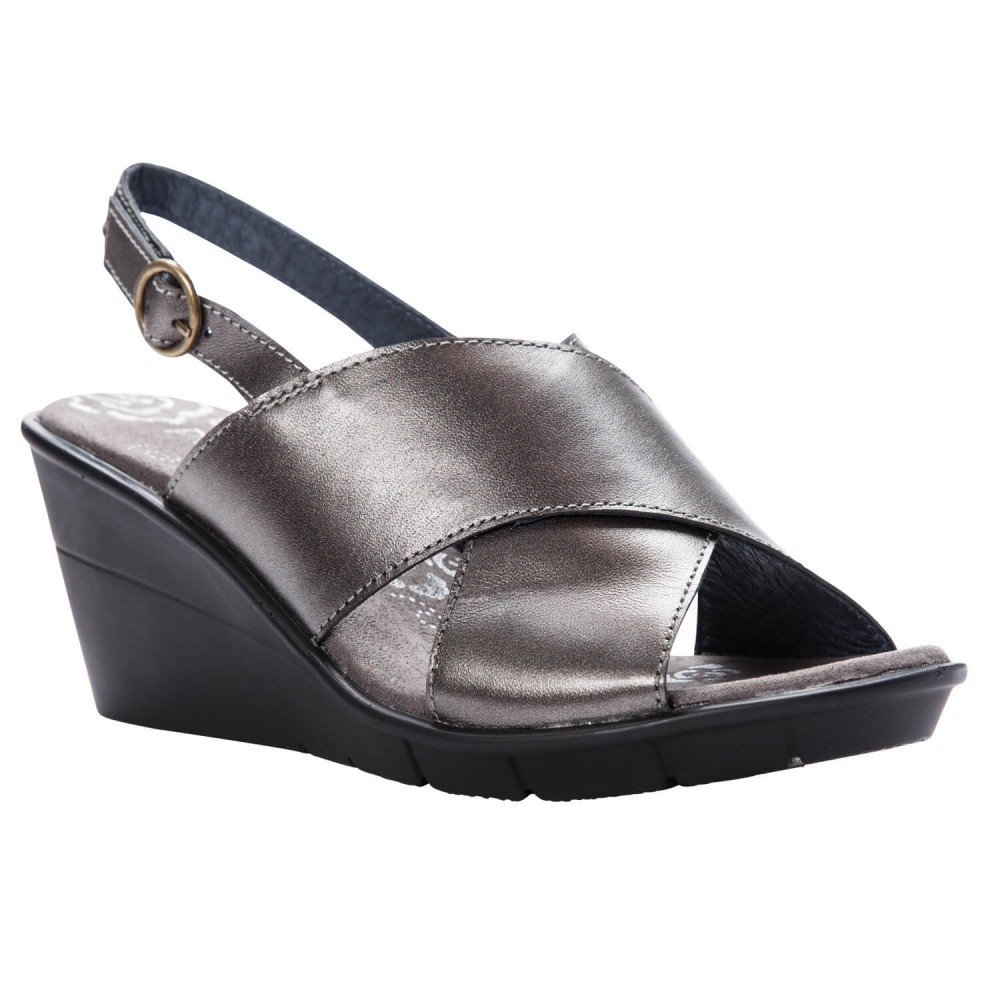 Propet Luna - Women's Comfort Wedge Backstrap Sandals