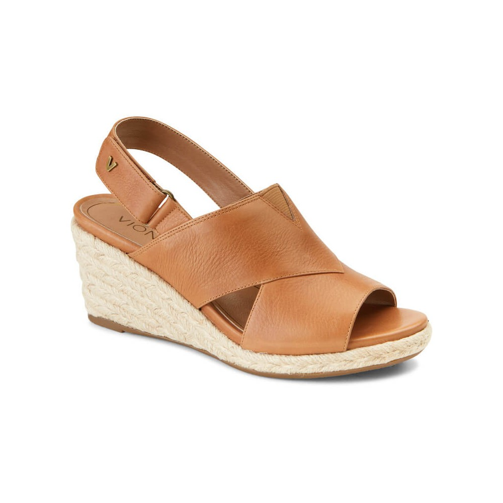 Vionic Tulum Zamar - Women's Backstrap Wedge Sandal