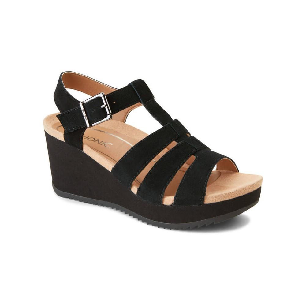 Vionic Hoola Tawny - Women's T-Strap Wedge Sandal