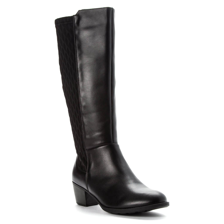 Comfort Wide Calf Knee High Boot