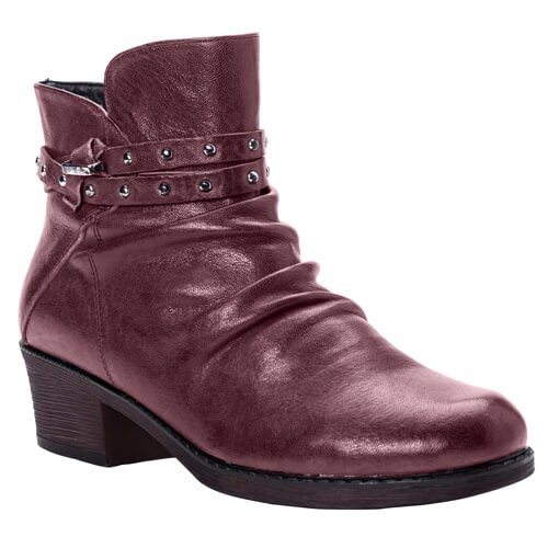 Propet Roxie - Women's Comfort Block Heel Slouched Ankle Boots