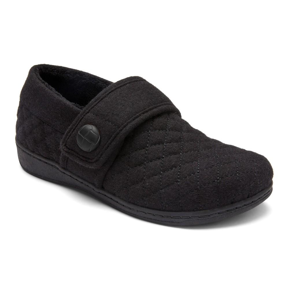 Vionic Jackie - Women's Comfort Flannel Slip On Slippers
