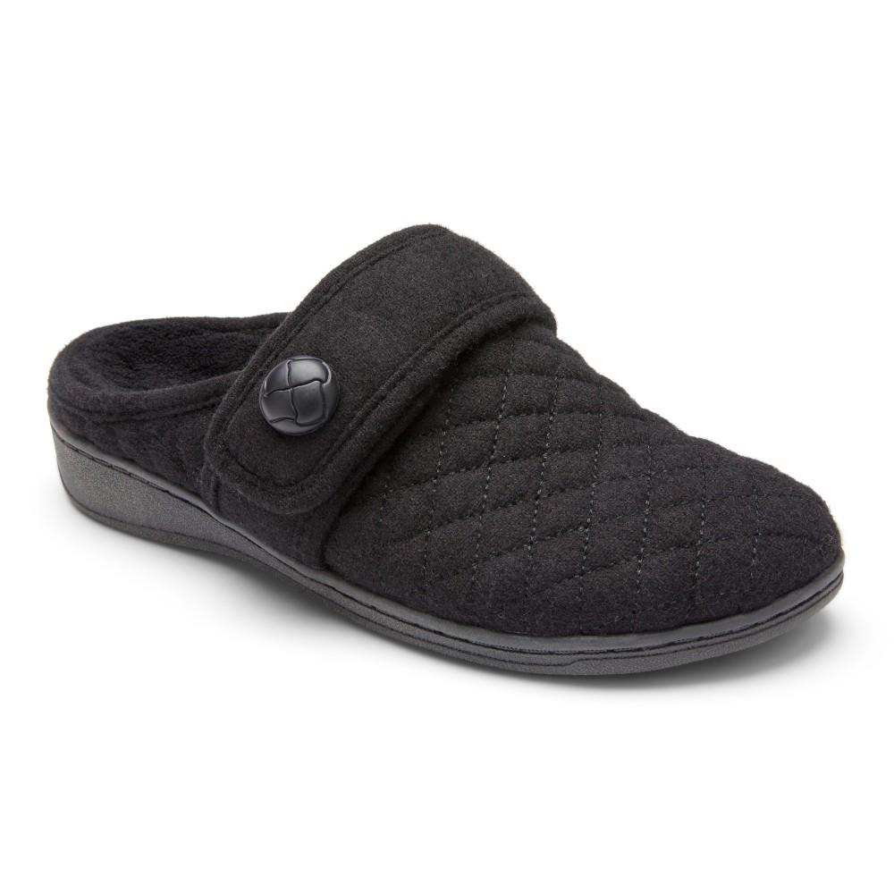 Vionic Carlin - Women's Comfort Flannel Mule Slipper
