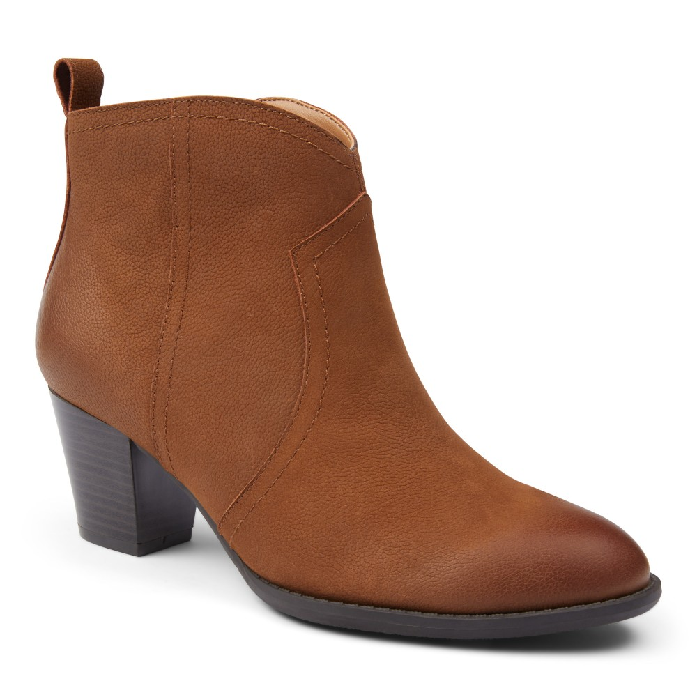 Vionic Raina - Women's Comfort Ankle Boot with Concealed Orthotic Arch Support