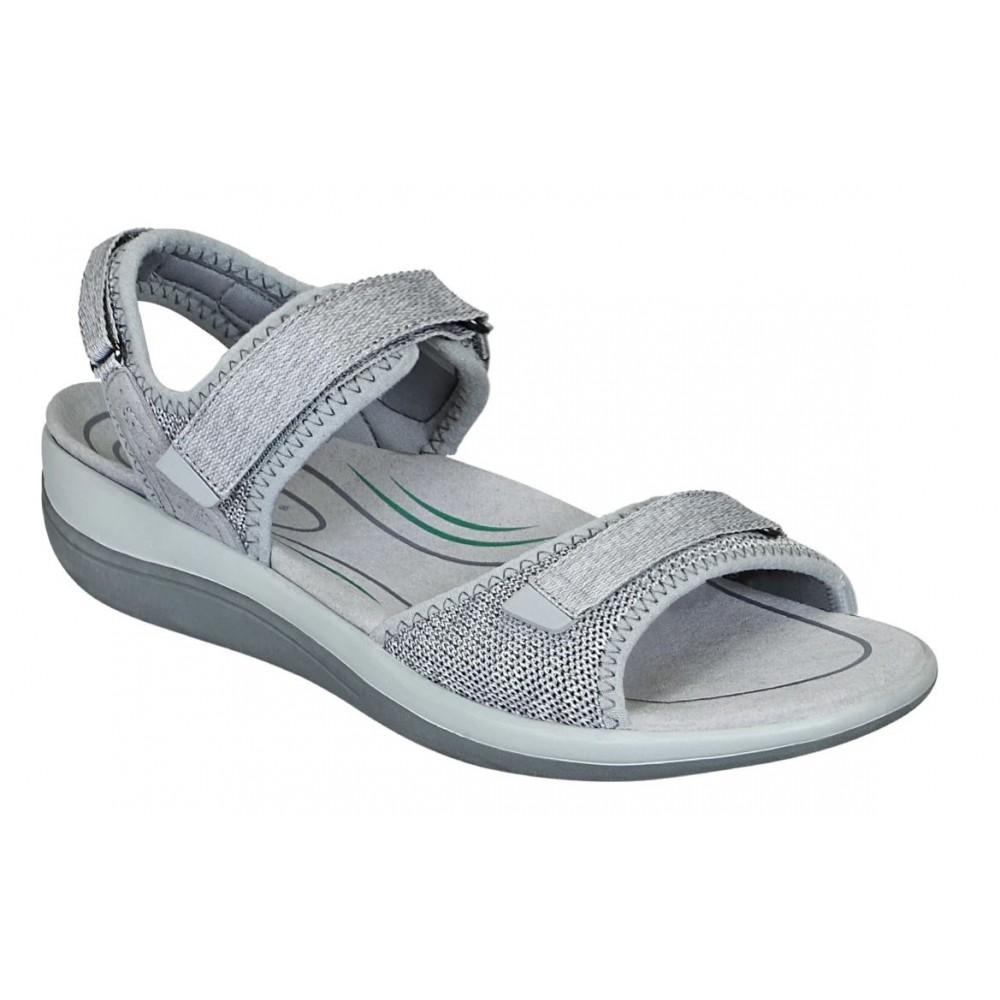 Orthofeet Calypso Gray - Women's Comfort Sandals