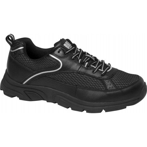 Athena Black/Silver - Women's Orthopedic Athletic Shoes - Drew Shoe