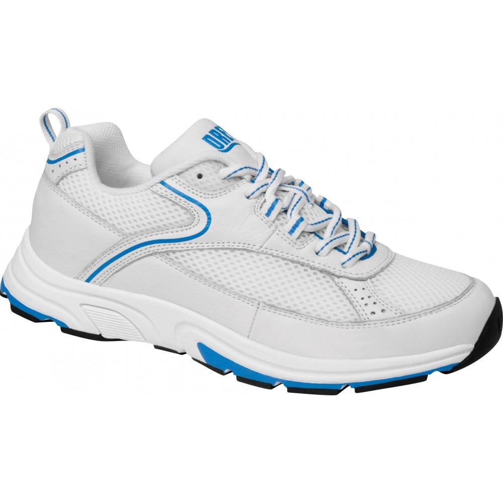 Athena White/Blue - Women's Orthopedic Athletic Shoes - Drew Shoe