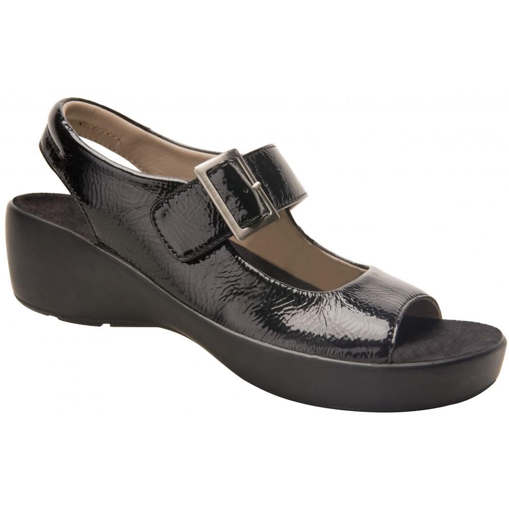 Avalon - Black - Women's Sandal - Drew Shoe