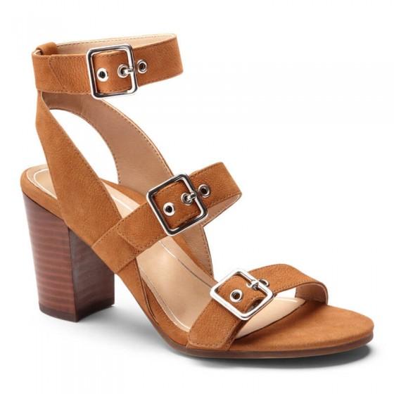 Vionic Perk Carmel Heel - Women's Comfort Backstrap Heel
