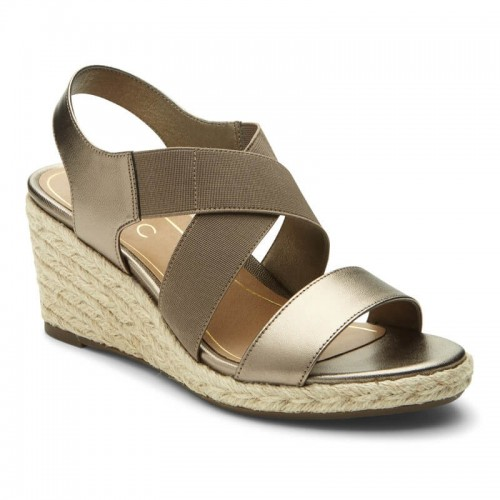 Vionic Tulum Ainsleigh - Women's Backstrap Wedge Sandals