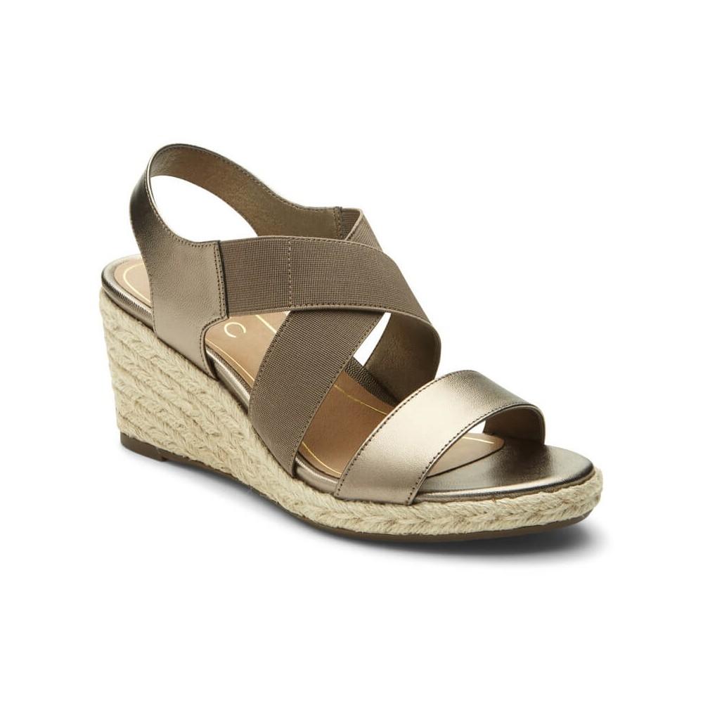 Vionic Tulum Ainsleigh - Women's Backstrap Wedge Sandals