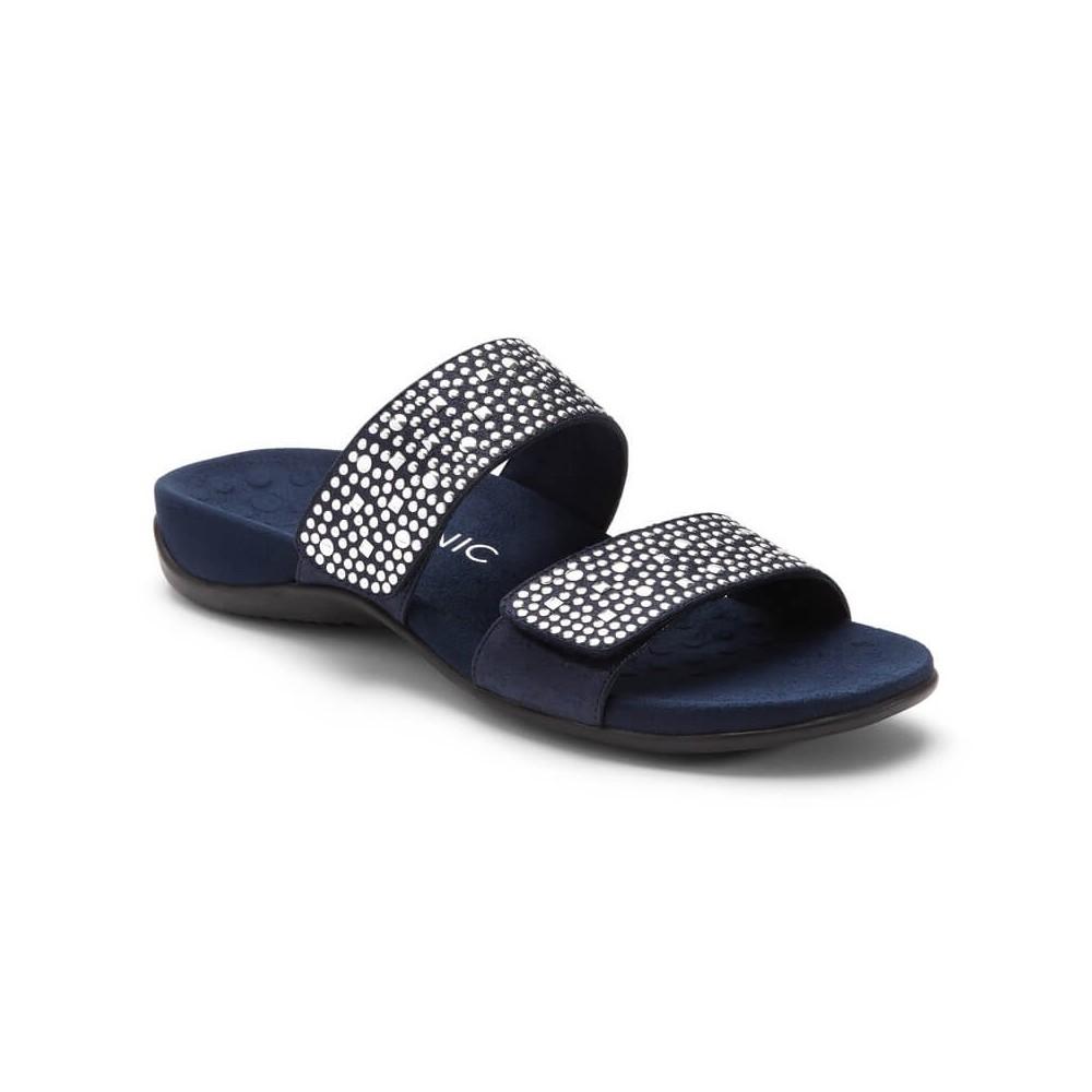 Samoa Slide Sandal - Black - Vionic Footwear
