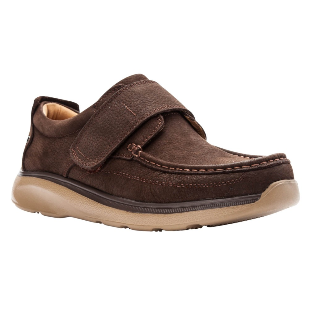 Propet Otto - Men's Strap Tumbled Leather Shoes
