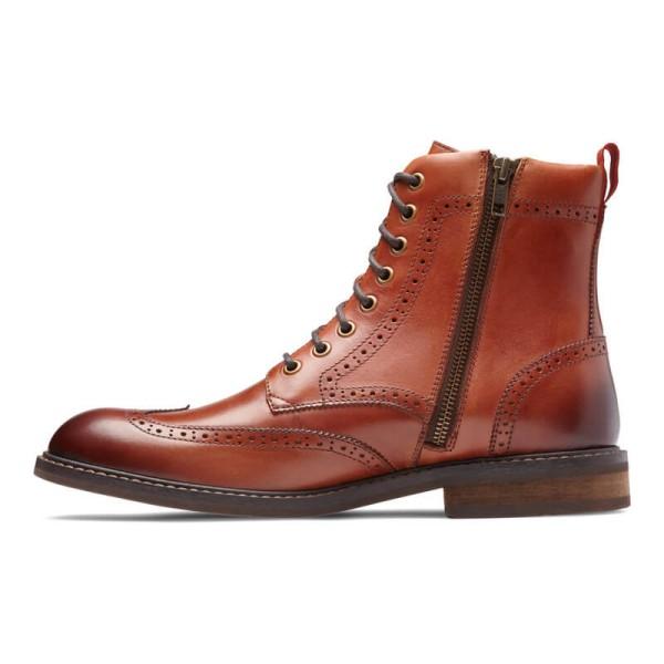 Vionic Wesley Men S Comfort Wing Tip Boots Flow Feet