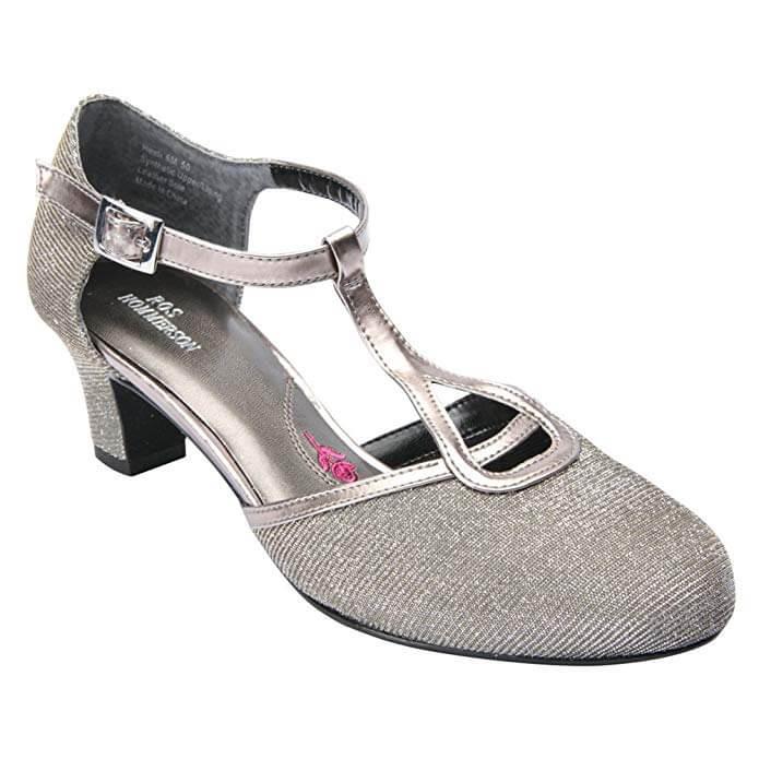 Ros Hommerson Heidi - Women's Dress Shoes - Color : Silver Iridescent Glitter, Shoe Size : 7.5,