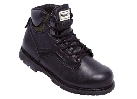 Surefit Calgary - Men's Durable Supportive Work Boot - Color :  Black, Shoe Size : 8, Width : W