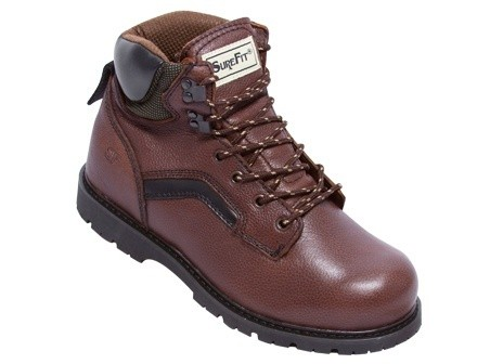 Surefit Calgary - Men's Durable Supportive Work Boot - Color : Brown, Shoe Size : 8, Width : W(