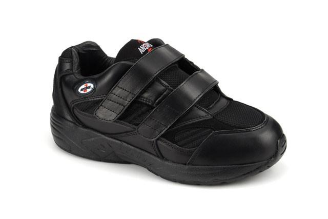 Apis Answer2 553-1 - Men's Athletic Shoe - Color : Black, Shoe Size : 6.5, Width : XW
