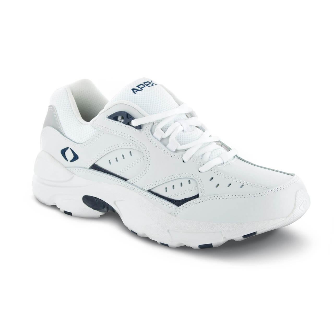 Apex Lace Walkers V Last - Men's Walking Shoe - Color : White, Shoe Size : 14, Width : XW